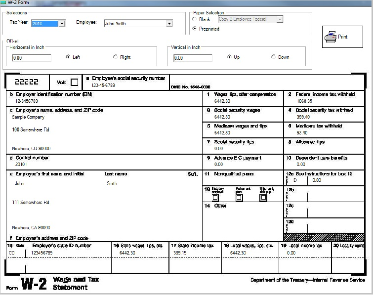 ezPaycheck Payroll Software Make It Easy To Print Tax Form W2 W – Unemployment Tax Form