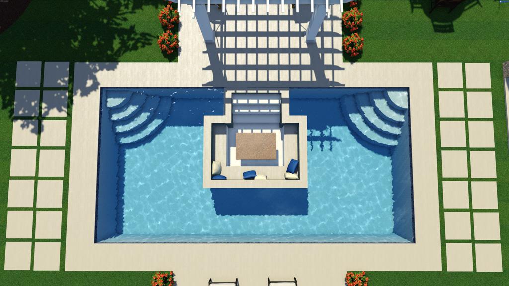 Thursday Pools Creates World S First Sunken Living Room Fiberglass Pool Pressrelease Com