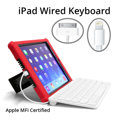 wired keyboards for ipad make ipads serious writing tools made for schools. Black Bedroom Furniture Sets. Home Design Ideas