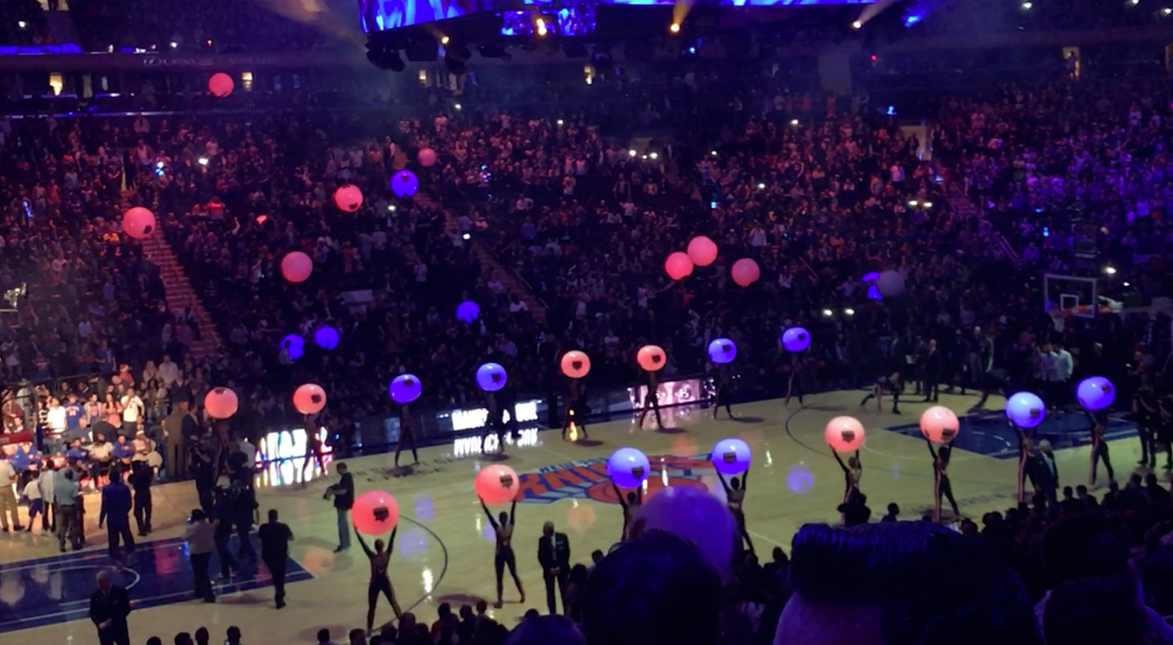 NY Knicks Feature LED Light Show At Madison Square Garden