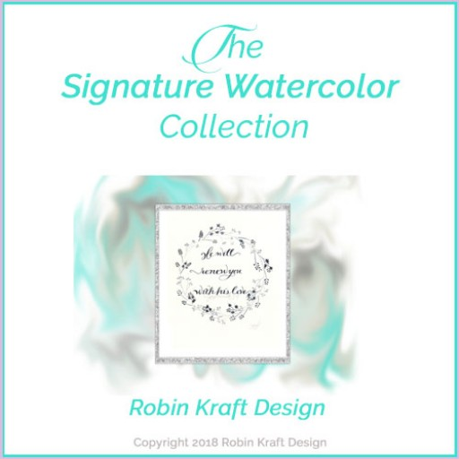Robin Kraft Design Website Launch and Signature Christian Watercolor Product Line Release