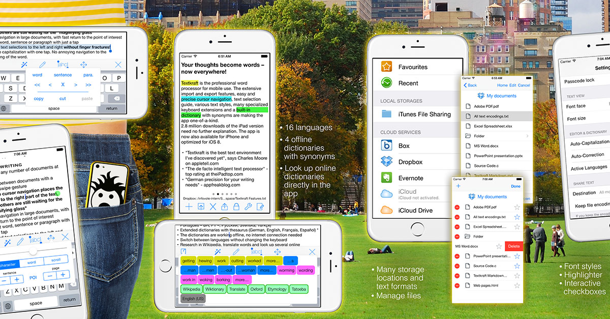 Textkraft Pocket - the Missing Textedit for the Iphone