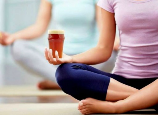 Beer Yoga at the Brewer's Cabinet on January 19
