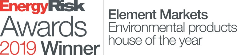 Element Markets Honored as Inaugural Environmental Products House of the Year by Energy Risk Magazine