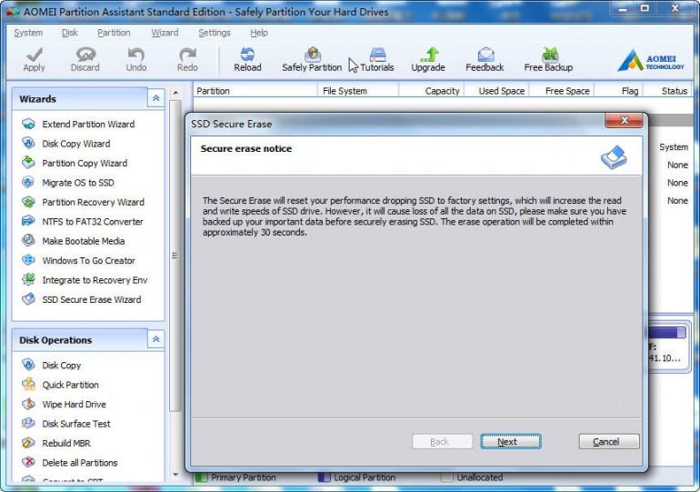 aomei partition assistant safe