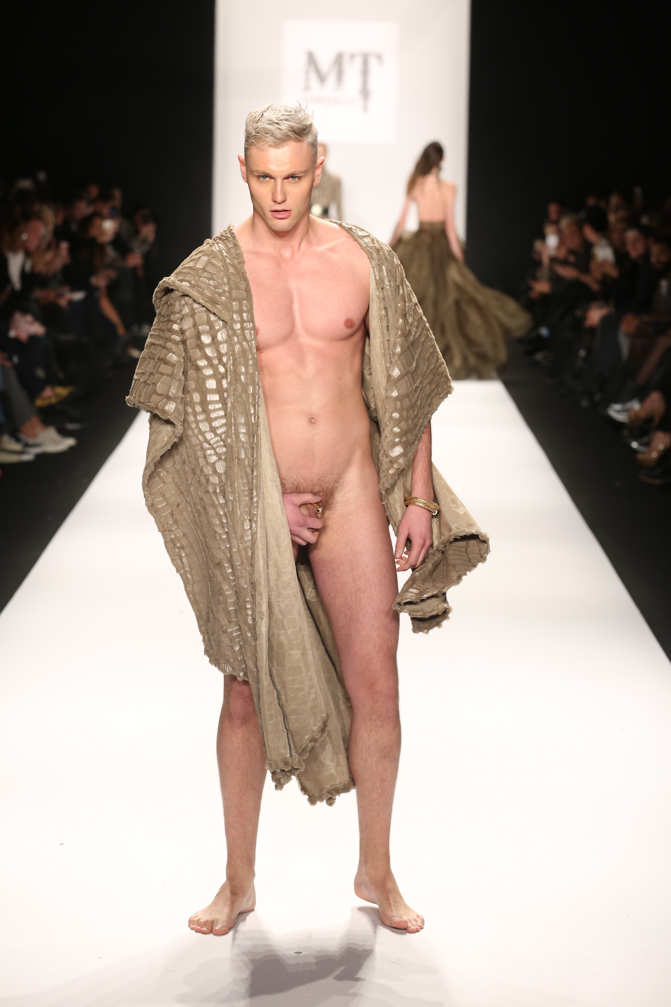 Nude models fashion show