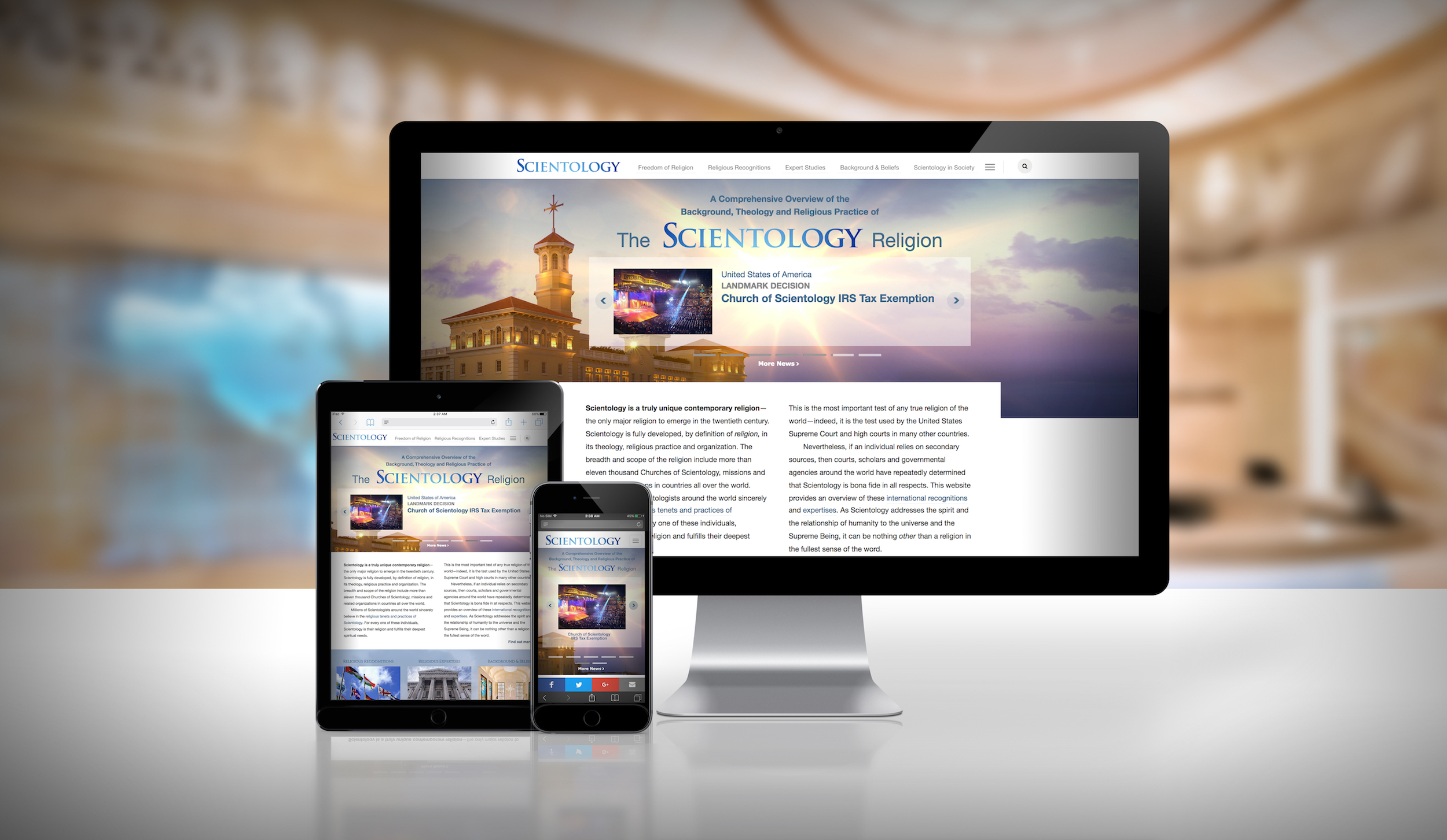 freedom of religion defined in new website from the church of