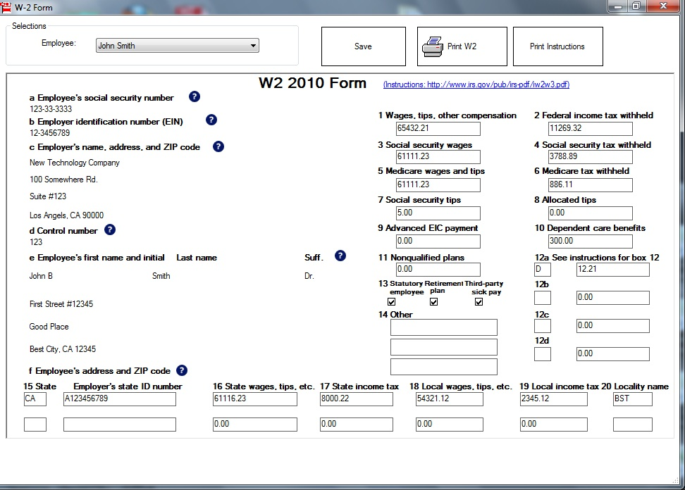 New EzW2 2014 Tax Preparation Software Makes Filing Forms W-2 ...